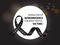 Światowy dzień wspominanie dla drogowego ruchu drogowego ofiar ilustracji