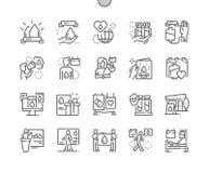 Światowy dzień Wykonująca ręcznie Krwionośnego dawcy wektoru ikon 30 piksel Doskonalić Cienka Kreskowa 2x siatka dla sieci Apps i ilustracja wektor