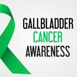 Światowy gallbladder nowotworu dnia świadomości plakat eps10 ilustracja wektor