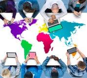 Światowy Globalny kartografia globalizacja zawody międzynarodowi pojęcie zdjęcia stock