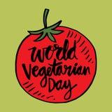 Światowy Jarski dzień z pomidorem ilustracji