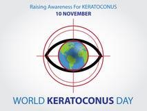 Światowy keratoconus dnia tło ilustracji
