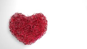 Światowy Kierowy dnia tło 3D iluminował neonowego serce rozjarzone cząsteczki i wireframe ilustracja fotografia royalty free
