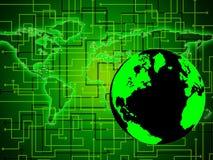 Światowy komputer Reprezentuje sieci komunikaci I serweru ilustracji