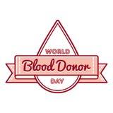 Światowy Krwionośnego dawcy dnia powitania emblemat royalty ilustracja