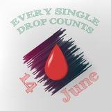 Światowy Krwionośnego dawcy dzień Obrazy Royalty Free