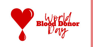 Światowy Krwionośnego dawcy dzień, Czerwiec 14 Obrazy Royalty Free