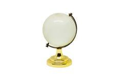 Światowy kryształ odizolowywający na białym tle Zdjęcia Stock