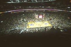Światowy mistrzostwo Los Angeles Lakers, NBA mecz koszykówki, Staples Center, Los Angeles, CA Zdjęcie Stock