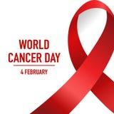 Światowy nowotworu dzień Luty 4 Światowy nowotworu dnia projekta tło ilustracji