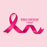 Światowy nowotworu dzień Luty 4 Światowy nowotworu dnia projekta tło ilustracja wektor