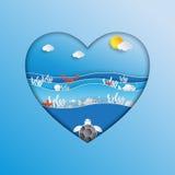 Światowy oceanu dnia pojęcia projekt w kierowym kształcie Zdjęcia Royalty Free
