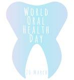 Światowy Oralny zdrowie dzień Zdjęcie Royalty Free