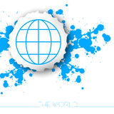 Światowy podróży tło Fotografia Royalty Free