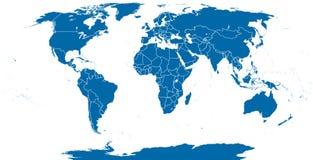Światowy Polityczny mapa kontur ilustracja wektor