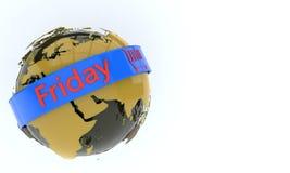 Światowy przedmiot i Piątku symbol, 3d Obraz Royalty Free
