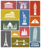 Podróży ikony Zdjęcia Royalty Free