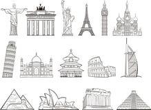 Światowy punktu zwrotnego set Obrazy Stock