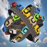 Światowy ruchu drogowego dżem Fotografia Stock