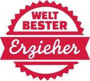 Światowy ` s najlepszy pedagog - niemiec royalty ilustracja