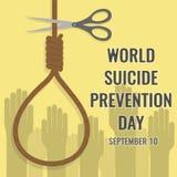 Światowy samobójstwa zapobiegania dzień, 10th Wrzesień Fotografia Stock