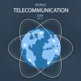 Światowy Telekomunikacyjny dzień, 17 Maj ilustracja wektor