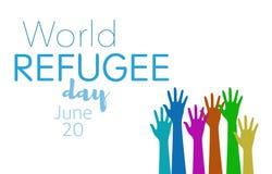 Światowy uchodźcy dzień na Czerwu 20th Zdjęcia Stock