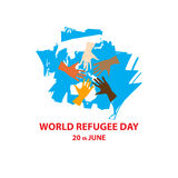 Światowy uchodźcy dzień na Czerwu 20th Obrazy Stock