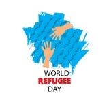 Światowy uchodźcy dzień na Czerwu 20th Obraz Royalty Free