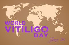 Światowy Vitiligo dzień Zdjęcie Stock