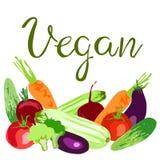 Światowy weganinu dnia pojęcie ilustracji