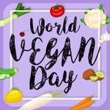 Światowy weganinu dnia projekt ilustracji