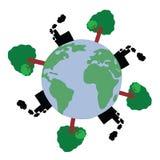 Światowy zanieczyszczenie ilustracja wektor