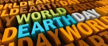 Światowy ziemski dzień Obrazy Royalty Free