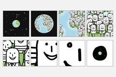 światowych oko zoom ludzie ilustracji