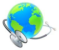 Światowych zdrowie dnia ziemi stetoskopu kuli ziemskiej pojęcie Zdjęcie Stock