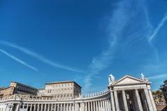 Światu świętego Peters kwadrata sławna kolumnada zdjęcie royalty free