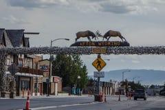 Światu Elkhorn Wielki łuk, Afton, Wyoming Zdjęcie Stock