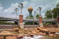Światu jarmarku park Knoxville Tennessee obraz royalty free