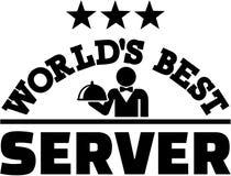 Światu najlepszy serwer ilustracja wektor