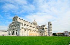 Światu piazza sławny dei Miracoli w Pisa Obraz Royalty Free