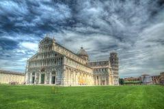 Światu piazza sławny dei Miracoli w Pisa w hdr Obraz Stock