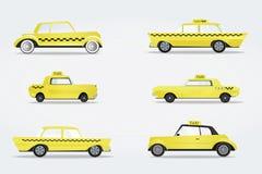 Światu taxi sławni samochody Zdjęcia Royalty Free