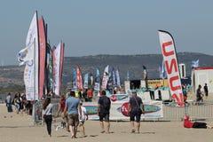 Światu wiatr w Leucate, Ślizgowa sport rywalizacja w Francja Obraz Royalty Free