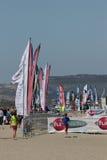 Światu wiatr w Leucate, Ślizgowa sport rywalizacja w Francja Obrazy Royalty Free
