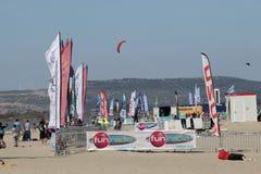 Światu wiatr w Leucate, Ślizgowa sport rywalizacja w Francja Fotografia Royalty Free