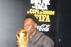 Światu wielki futbolista Pelé fotografia royalty free
