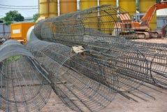 Świdrowi palowi wzmacnienie bary przy budową w Malezja Fotografia Stock