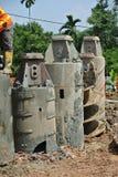 Świdrowy Palowy takielunku auger przy budową Obrazy Royalty Free