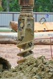 Świdrowy Palowy takielunku auger przy budową Fotografia Stock